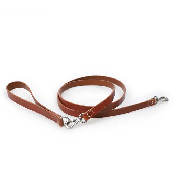 Signature Dog Leash Set Brown